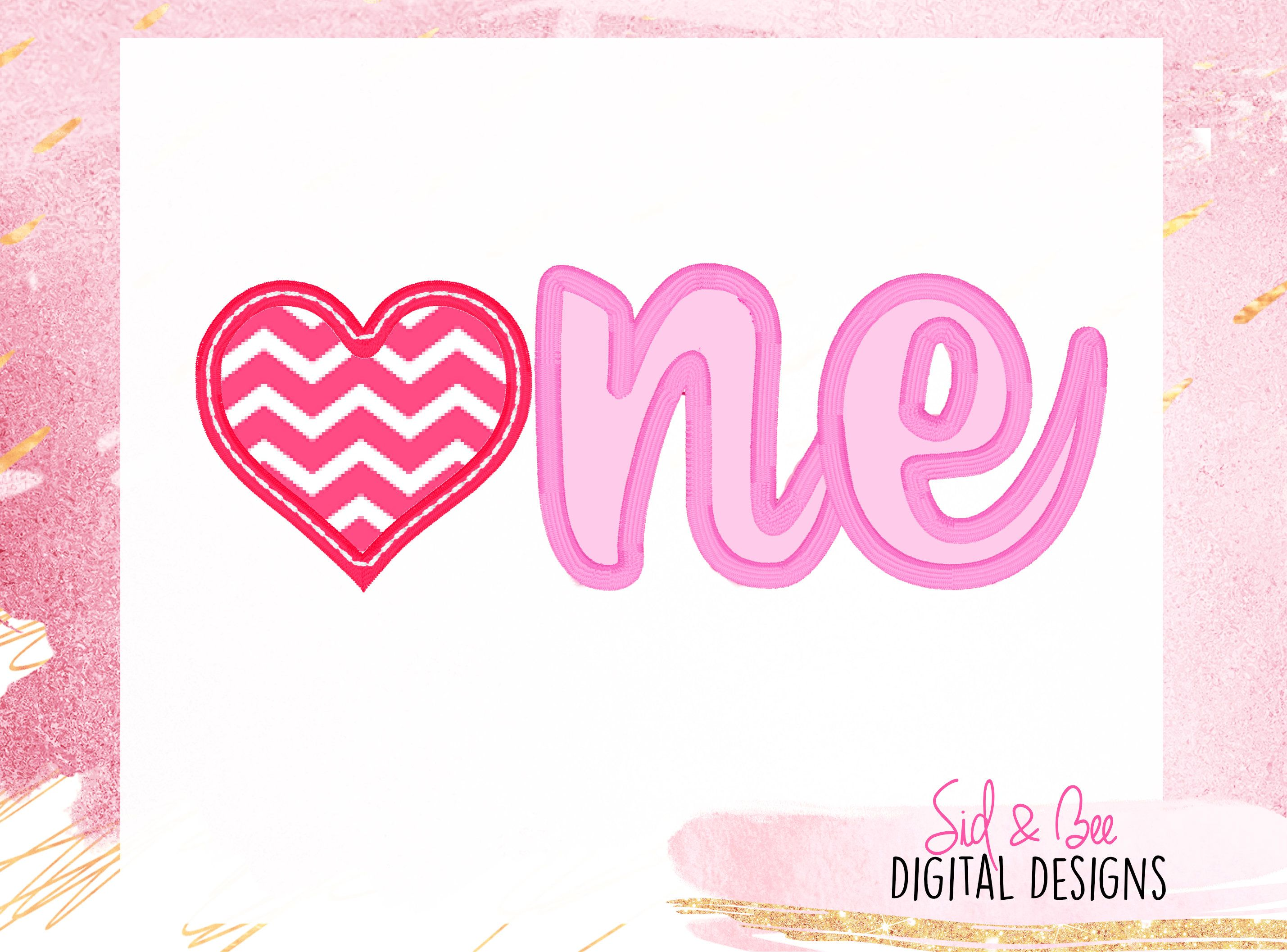 One Valentine's Applique Embroidery heart first Etsy in