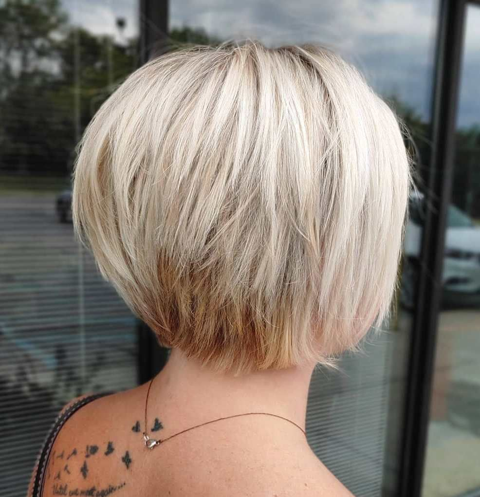 Nape Length Layered Bob In 2020 Short Hair Styles Fine Hair Hair Styles