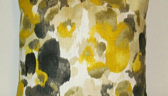 Yellow Gold And Charcoal Grey Decorative Pillow My