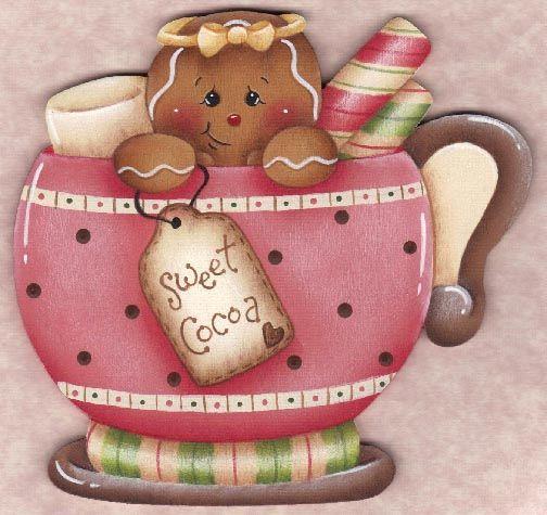 Sweet Cocoa Gingerbread Ornament Blank Manualidades Arte De Navidad Artesanías De Navidad
