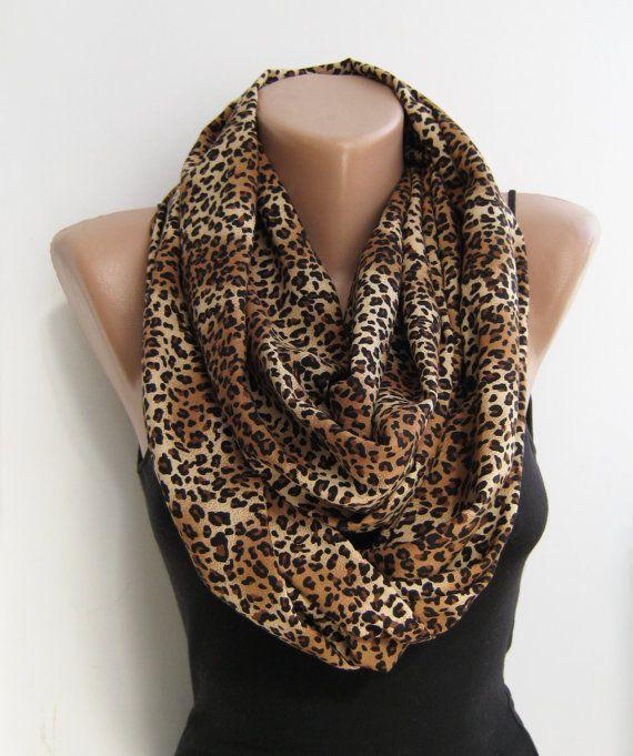 leopard infinity scarf loop scarf cheetah circle scarf
