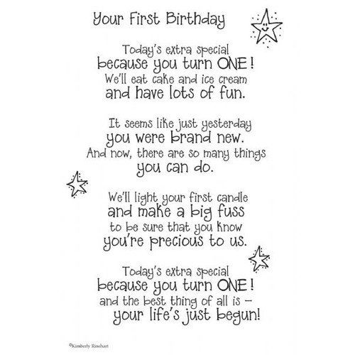 One Year Old Birthday Quotes: Walmart: It Takes Two Poems For A Page Your 1st Birthday