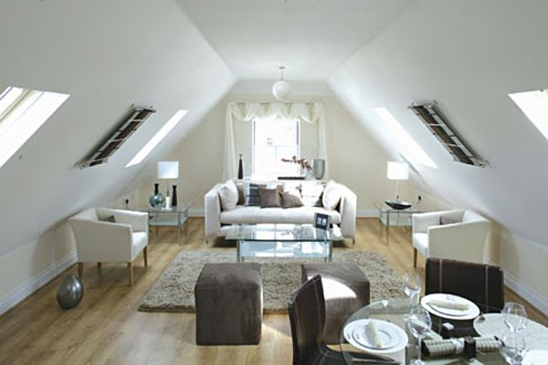 white room attic ideas - Attic Room Ideas