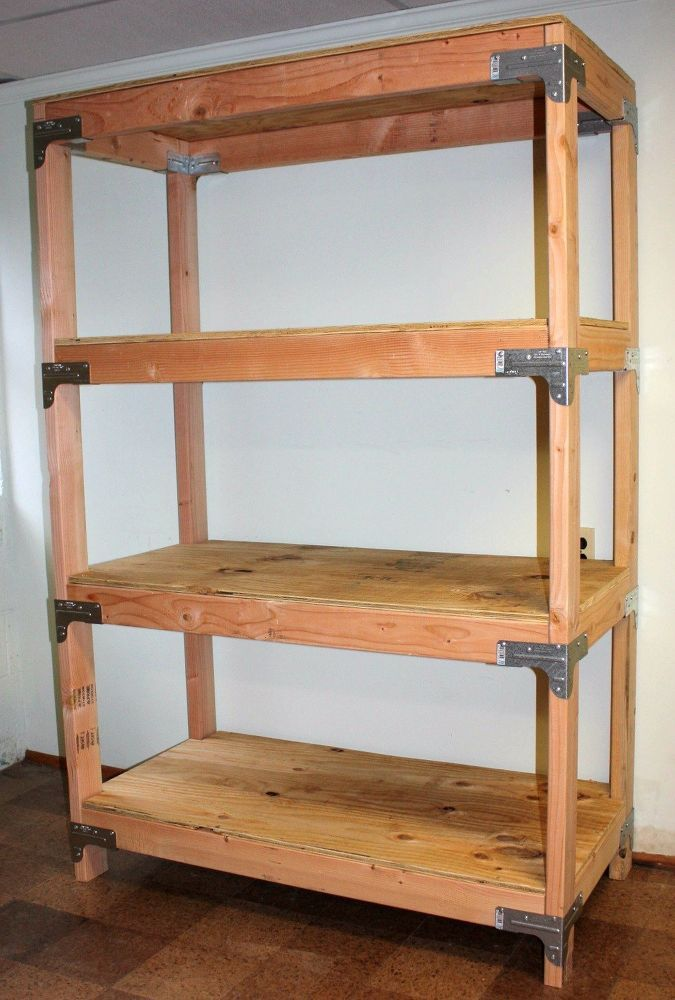 Diy 2x4 Shelving Unit Diy Storage Shelves Diy Wood Shelves Garage Storage Shelves