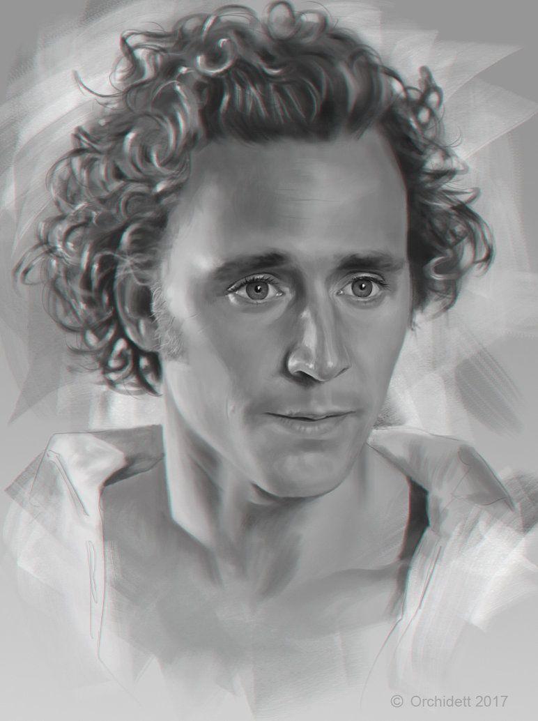 Tom Hiddleston Fan Art By http://orchydett.deviantart.com/art/practise-Tom-Hiddleston-657210320