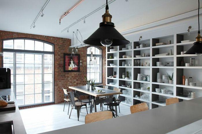 Offenes Regalsystem kücheneinrichtung industriell offenes regalsystem coole hängele