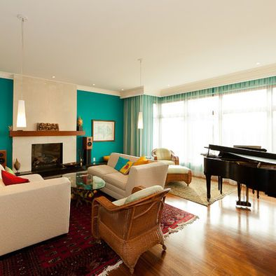 Spaces Turquoise Accent Wall Design, Pictures, Remodel ...