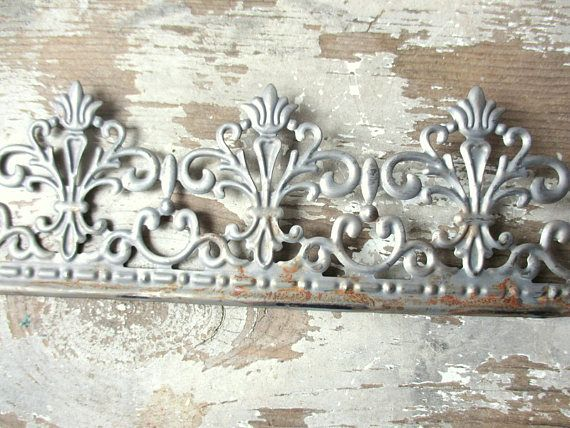 Ornate galvanized zinc look metal tin edging ribbon trim  Hi! This