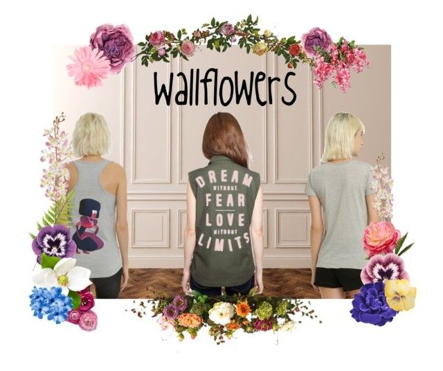 """Wallflowers"" by rurustarr on Polyvore featuring Glamour Kills, Disney, Laura Cole, Gucci, Nearly Natural, Pavilion Broadway, Nourison, Chanel, casual and Flowers"