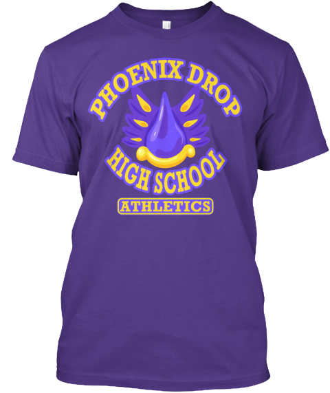 1c1956e443b Show your school spirit with this Phoenix Drop High Gym Shirt! Sporting the  school colors of Purple and Gold with our athletics department symbol, ...