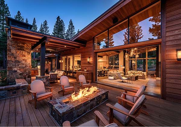 Mountain Modern Home Perfect For Entertaining In Martis Camp Mountain Modern Modern Mountain Home House Exterior