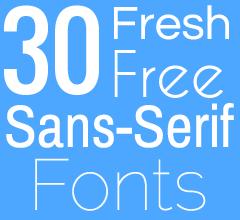 30 Fresh Free Sans Serif Fonts