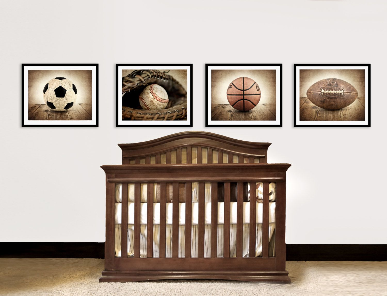 Vintage Football On Barnwood 8x10 Print Decorating Ideas Wall Decor Art