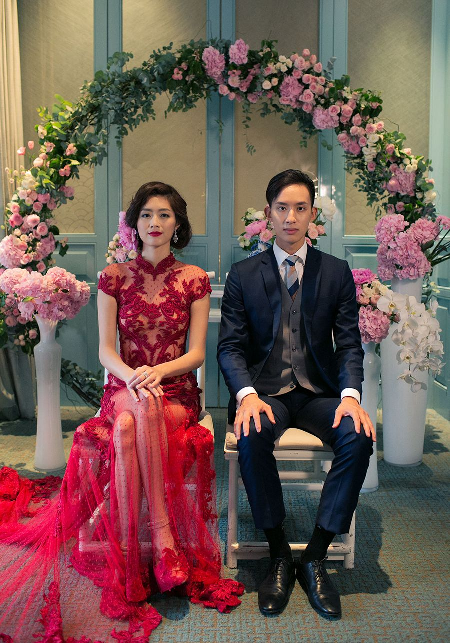 Elegant Wedding Tea Ceremony Inspiration with Cheongsam Inspired