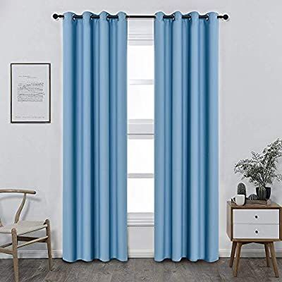Colokey Blackout Curtain Shade Insulation Curtain for Bedroom Living Room Balcony Curtain,Celeste,52x95-inch,1 Panel