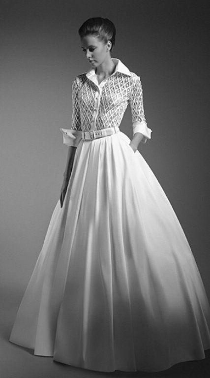 vestidos de novia con camisa: ¡novias originales! | novias