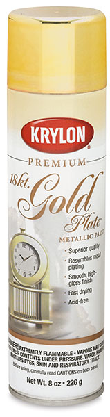 18 kt Gold Plate spray paint at Dick Blick's for making DIY reflector umbrellas