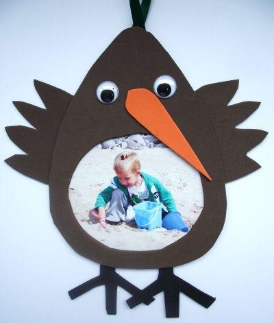 Kiwi Photo Frame Craft For Kids Pinterest Crafts Frame Crafts