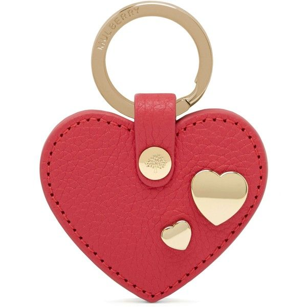 e566fe3801f9 Mulberry Heart Rivet Keyring ($61) ❤ liked on Polyvore featuring ...