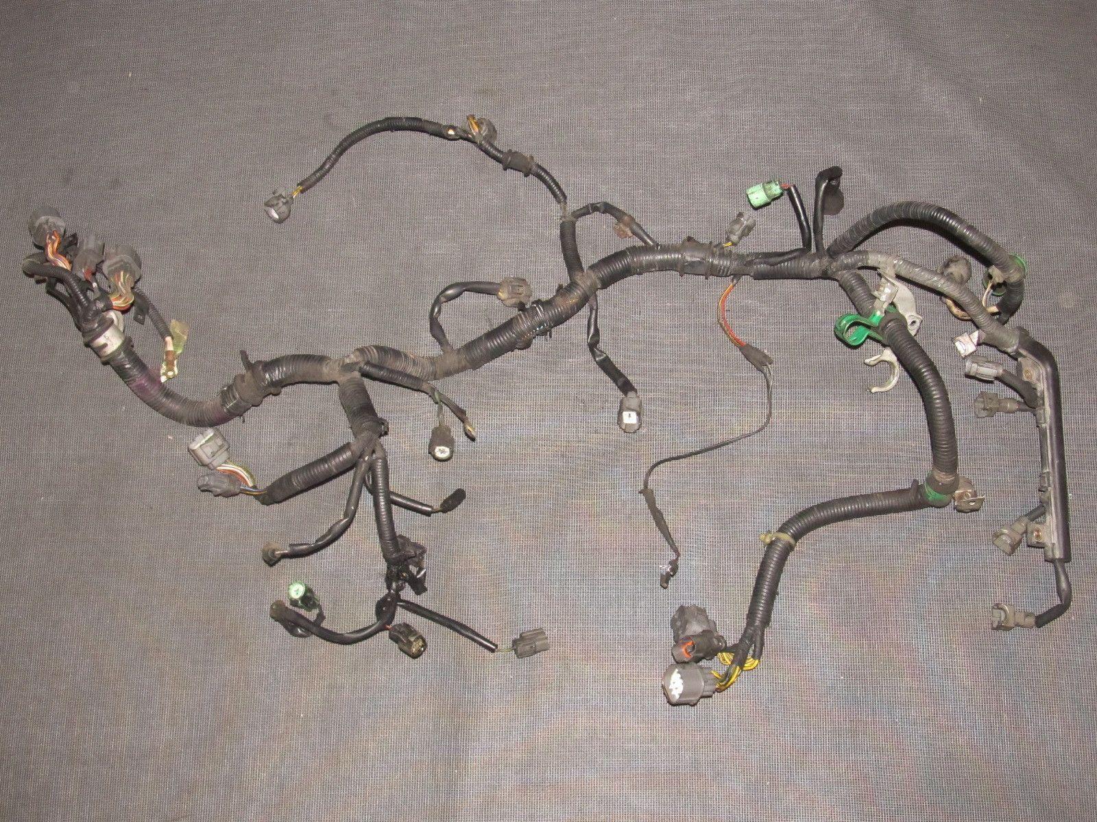 93 94 95 honda del sol oem b16 obd1 engine wiring harness m t [ 1600 x 1200 Pixel ]