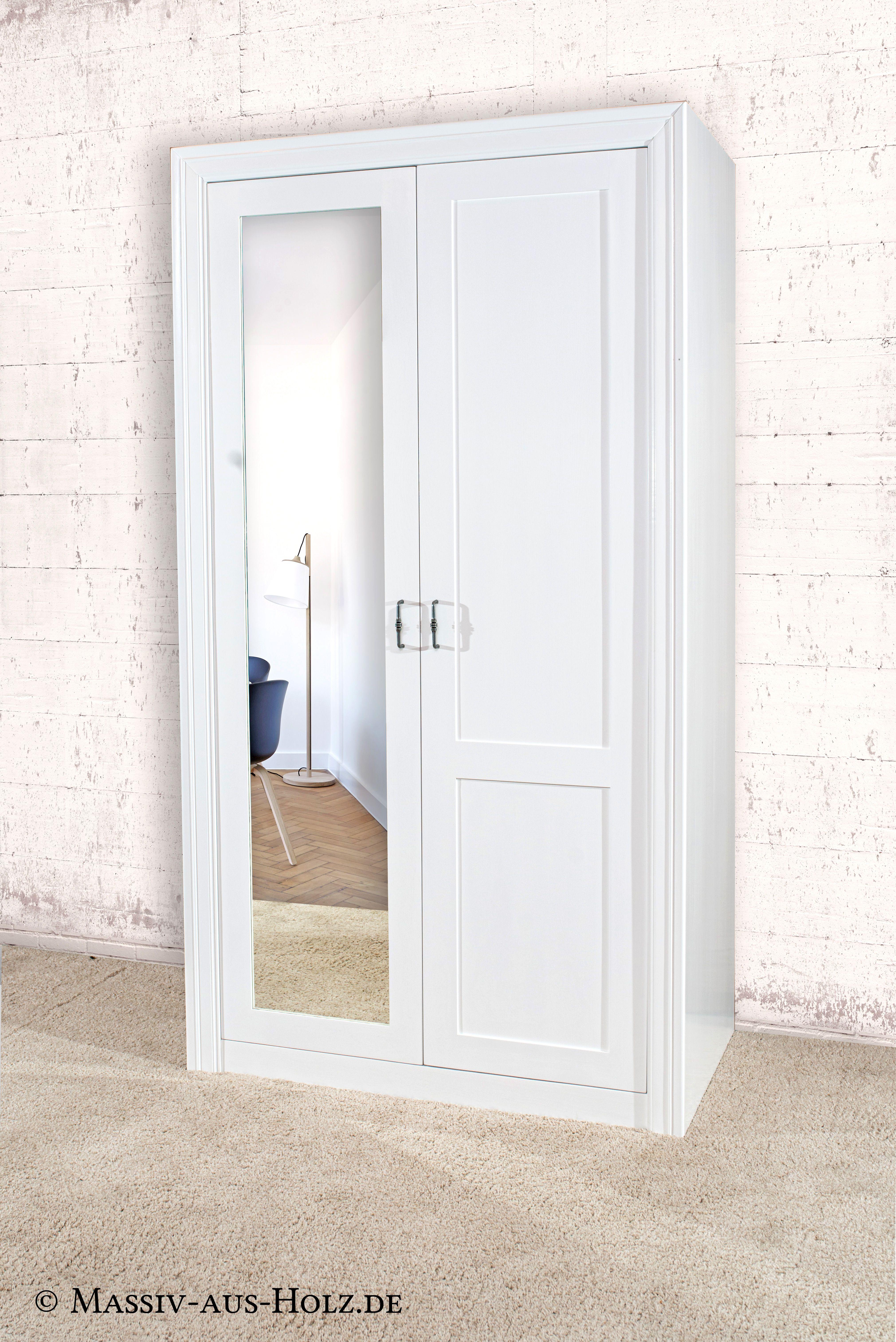 Kleiderschrank modern 2türig Schubladen mit Spiegel