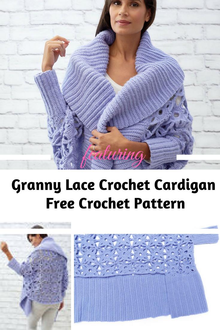 Gorgeous Lacy Crochet Cardigan Pattern   Crochet cardigan pattern ...