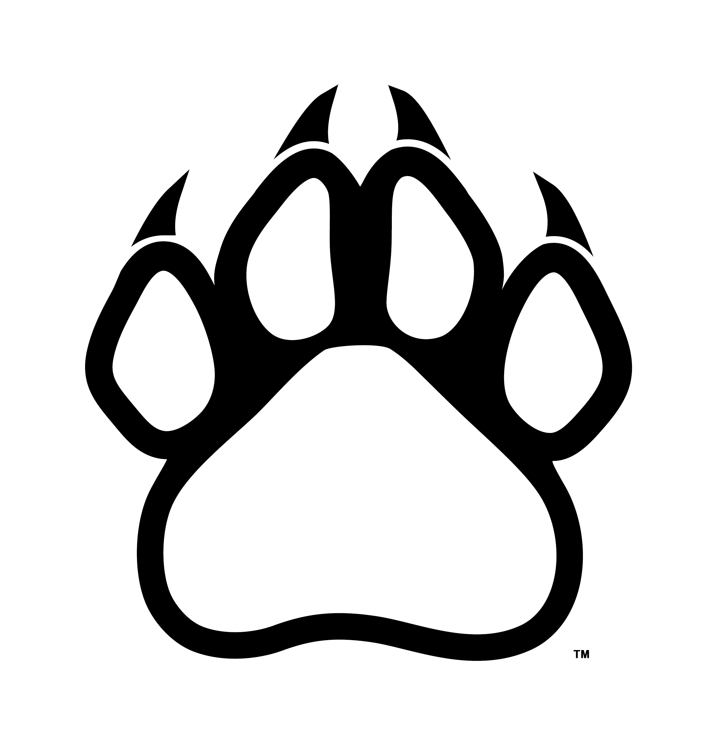 Paw Print Outline Clip Art Cliparts Co Wolf Paw Print Wolf Outline Wolf Paw