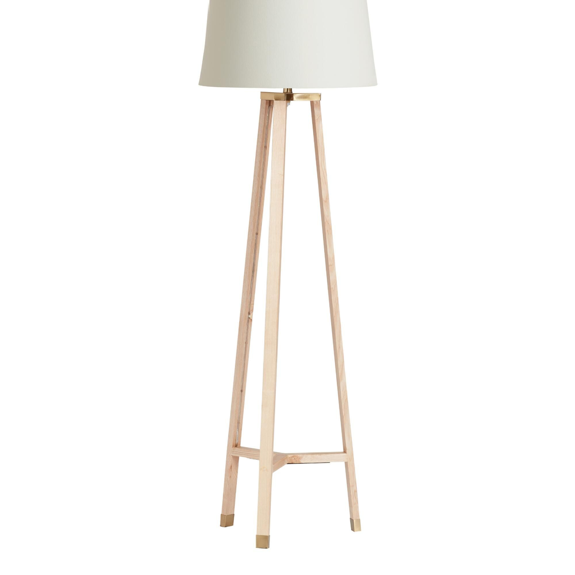 Juno Floor Lamp Base Made Of Natural Wood Brown From The World Market Architectural Wooden Diy Tapered X In 2020 Floor Lamp Base Unique Floor Lamps Wood Floor Lamp