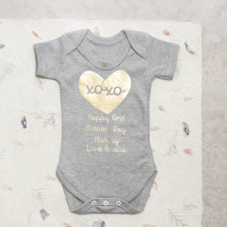 First Mothers Day Baby Grow Babies and Fashion kids