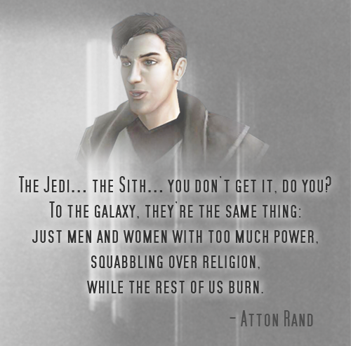 My favorite quote from Star Wars KOTOR II from my favorite character