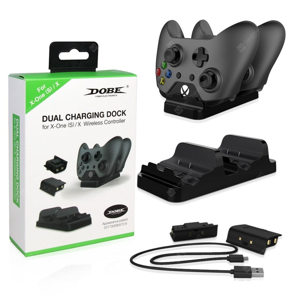 Game Controller Dual Battery Dual Charge Set Xbox One Handle Double Charger Battery Tyx 532 Docking Station Charging Dock Rechargeable Battery Charger