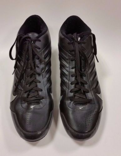 save off d5a97 b8510 Nike Shoes Landshark Cleats Football Black Silver Mens Size 15 US 49.5 EUR