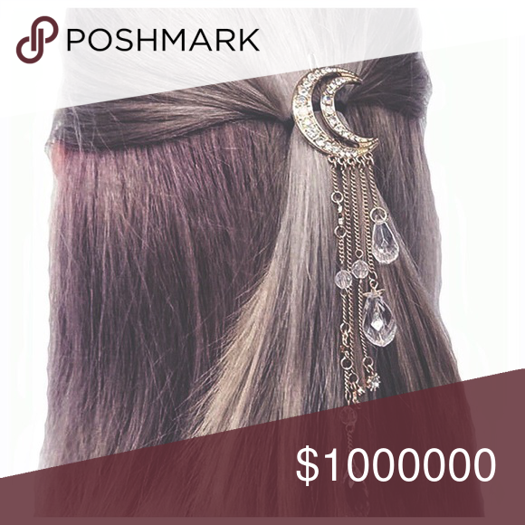 Fun girly crescent Moon hair Pin Fantasy