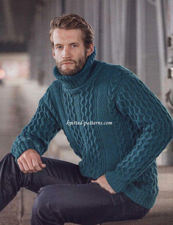 Aran pullover | Men | Pinterest | Sueter para hombre, Para hombres y ...
