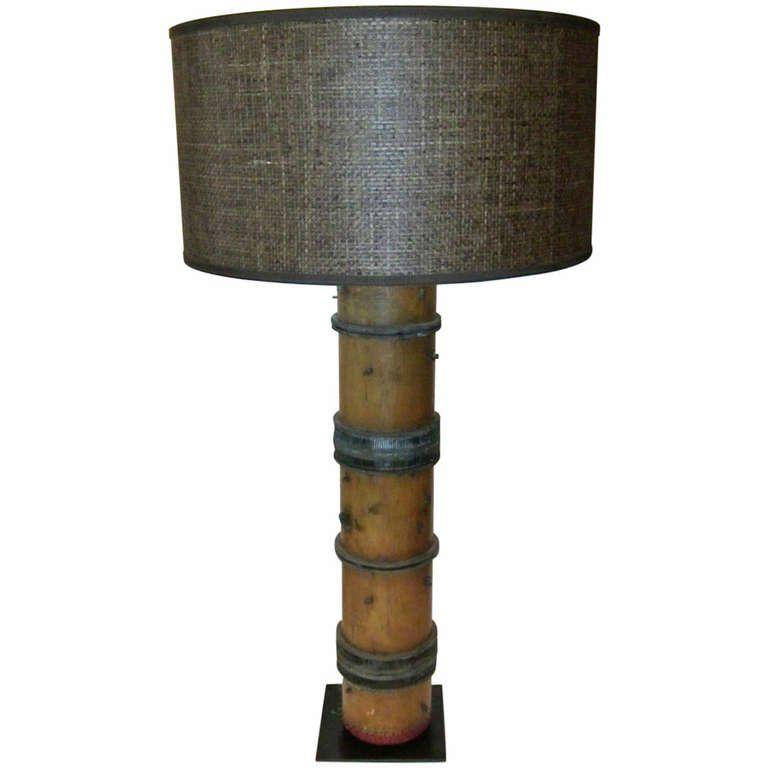 Wallpaper Roller Lamp France 1940s Lamp Makeover Wallpaper Roller Lamp