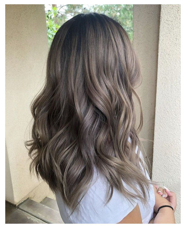 ash brown hair with highlights dark short
