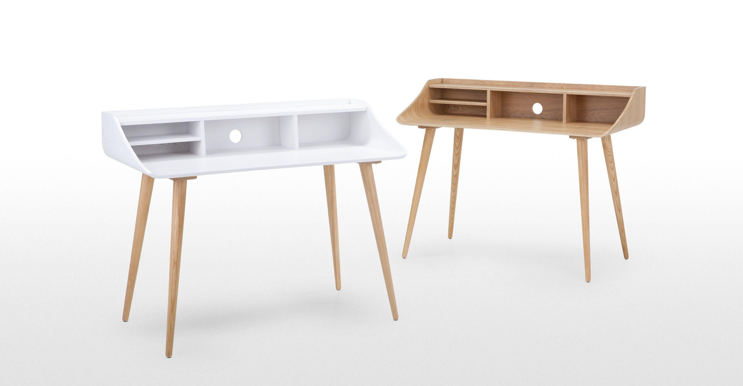 Esme un bureau blanc et frêne office furniture bureaus and