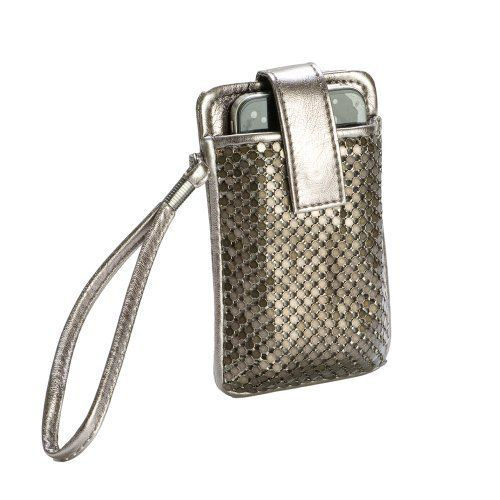 Mundi Pewter Cell Phone Wristlet w/ Sequin Mesh Mundi. $14.99. Small and Compact. Perfect for a night out.. Retail at 25.00