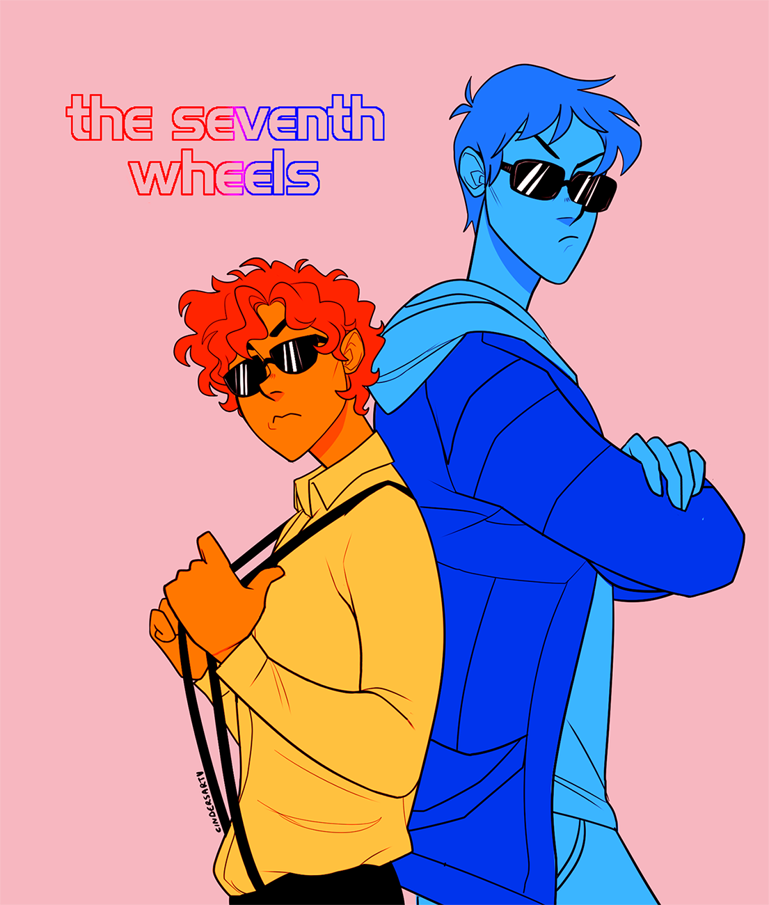Commission 2 Leo Valdez Lance Mcclain Promoing Their New Band The Seventh Wheels Percy Jackson Fandom Lance Mcclain Voltron
