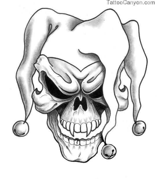 skull joker tattoo - Buscar con Google                                                                                                                                                                                 More