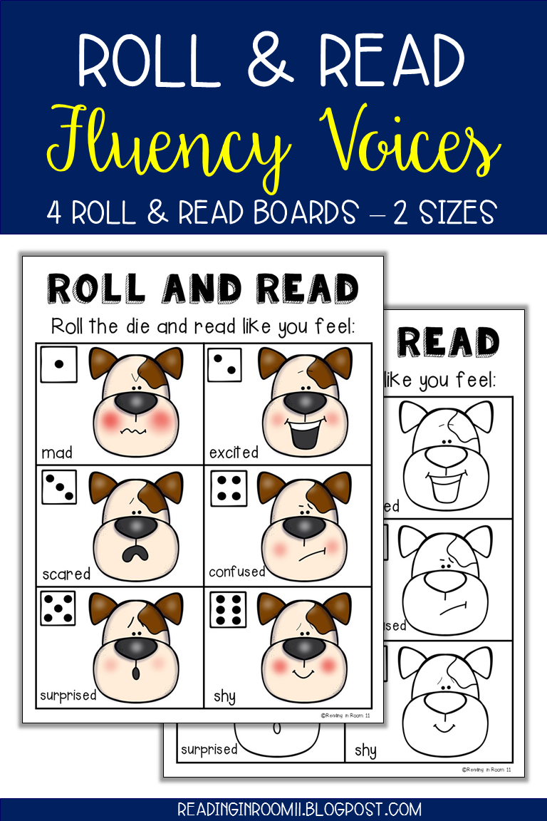 Roll and Read: Fluency Voices | My Resources: Reading in Room 11