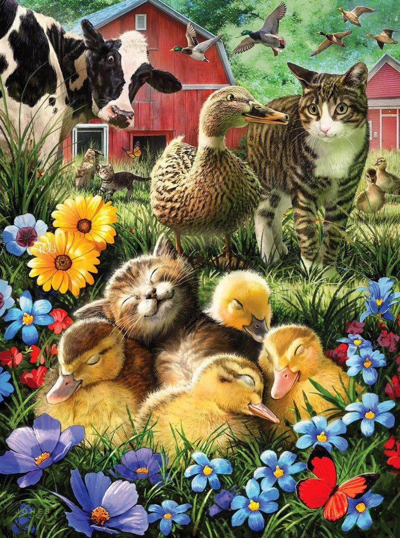 Larry Jones 9 фотографий Painting, Sleeping kitten