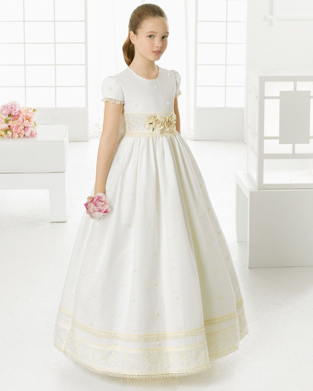 2017 Ivory holy communion dresses for girls hot sale ivory ...