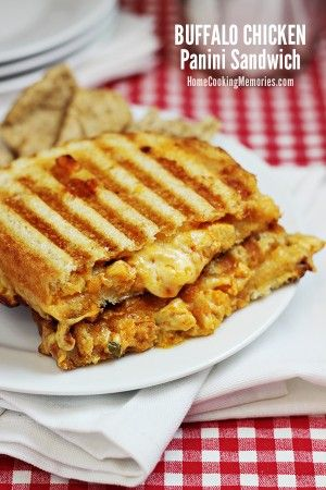This Buffalo Chicken Panini Sandwich recipe is a triple combo of awesome! If you love buffalo chicken wings, cheese, and sourdough bread - this is the sandwich for you!
