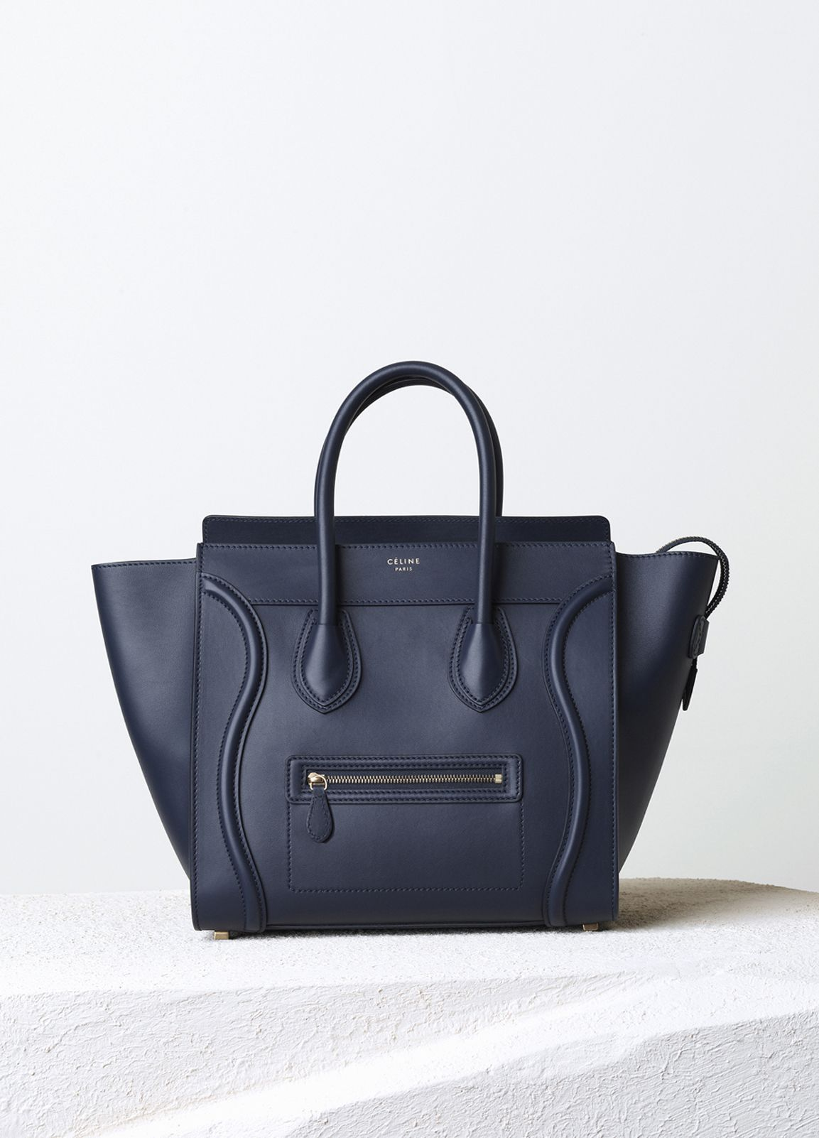 Mini Luggage Handbag in Smooth Calfskin - Fall / Winter Collection 2014 | CÉLINE. This bag has always been a must on my wish list, with the shape and the sleek classic black!