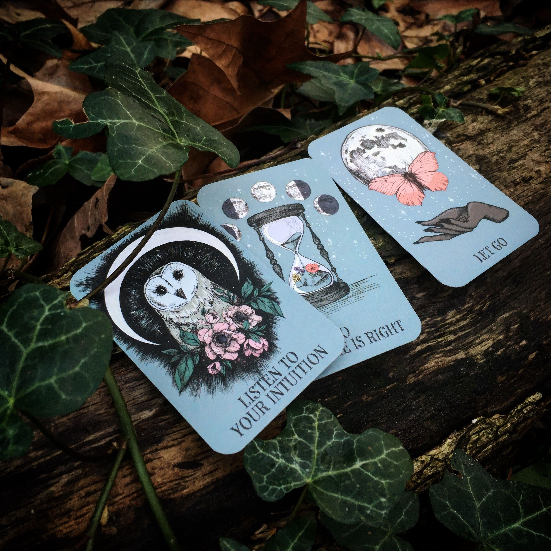 Crystal ball pocket oracle cards 13 card tarot deck oracle