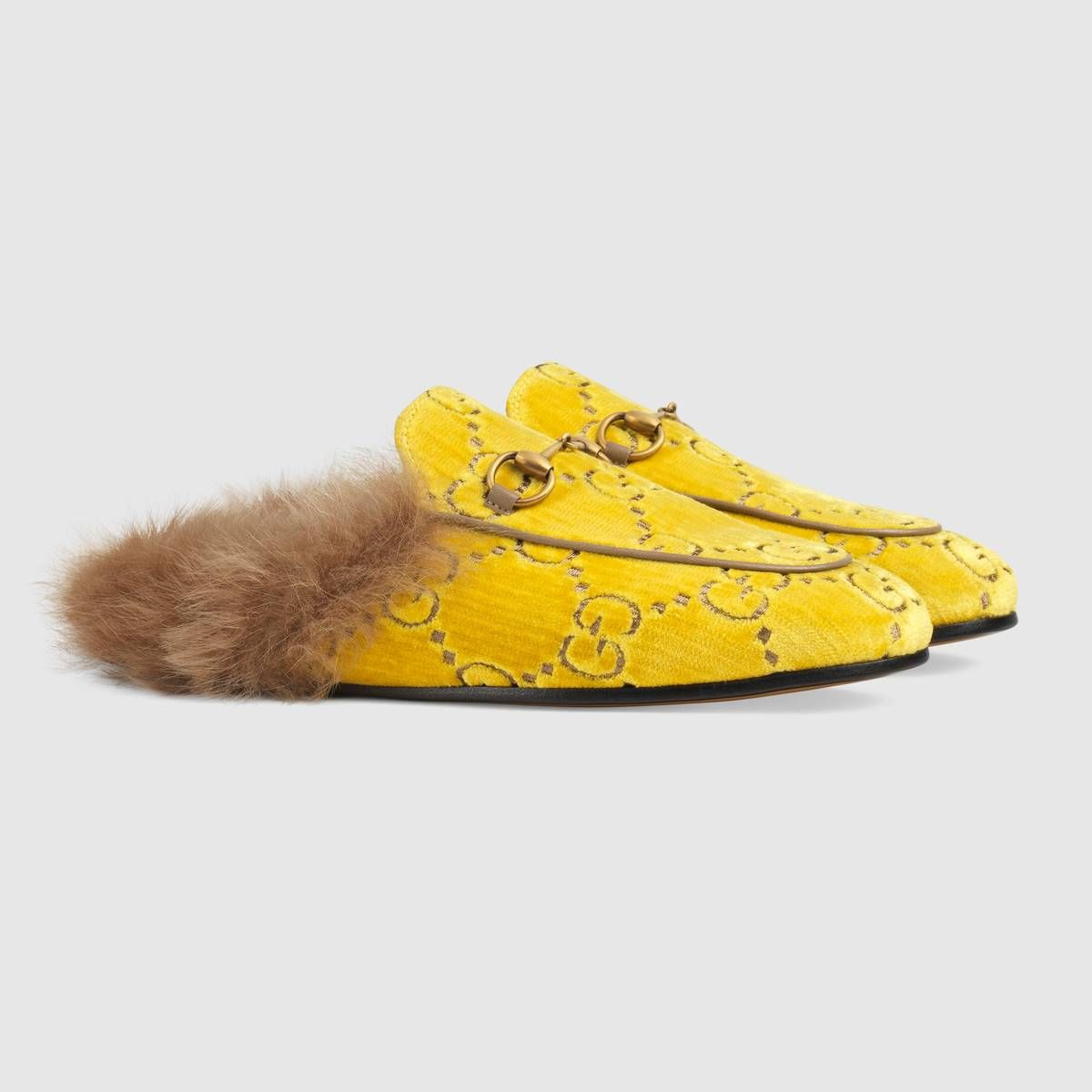 c673f59abe Princetown GG velvet slipper in 2019 | FLATS | Velvet slippers, Shoe ...