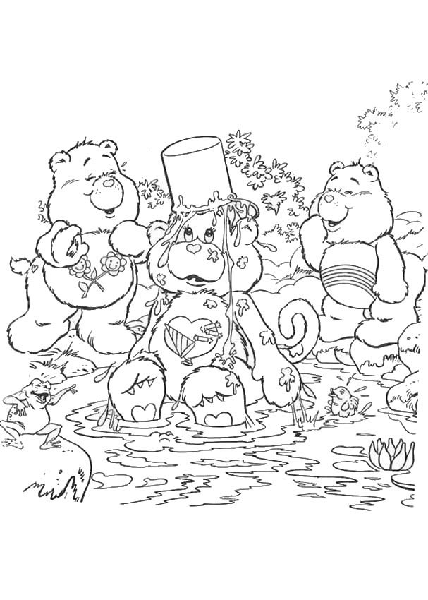 Care Bears Coloring Pages Care Bears Having A Bath Bear Coloring Pages Christmas Coloring Pages Coloring Pages