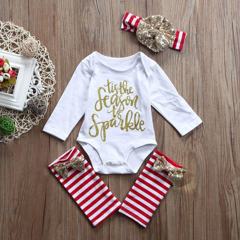 ad646d8cc8c Newborn Kid Baby Girl Clothes Jumpsuit Romper Bodysuit Leggings Headband  Outfits