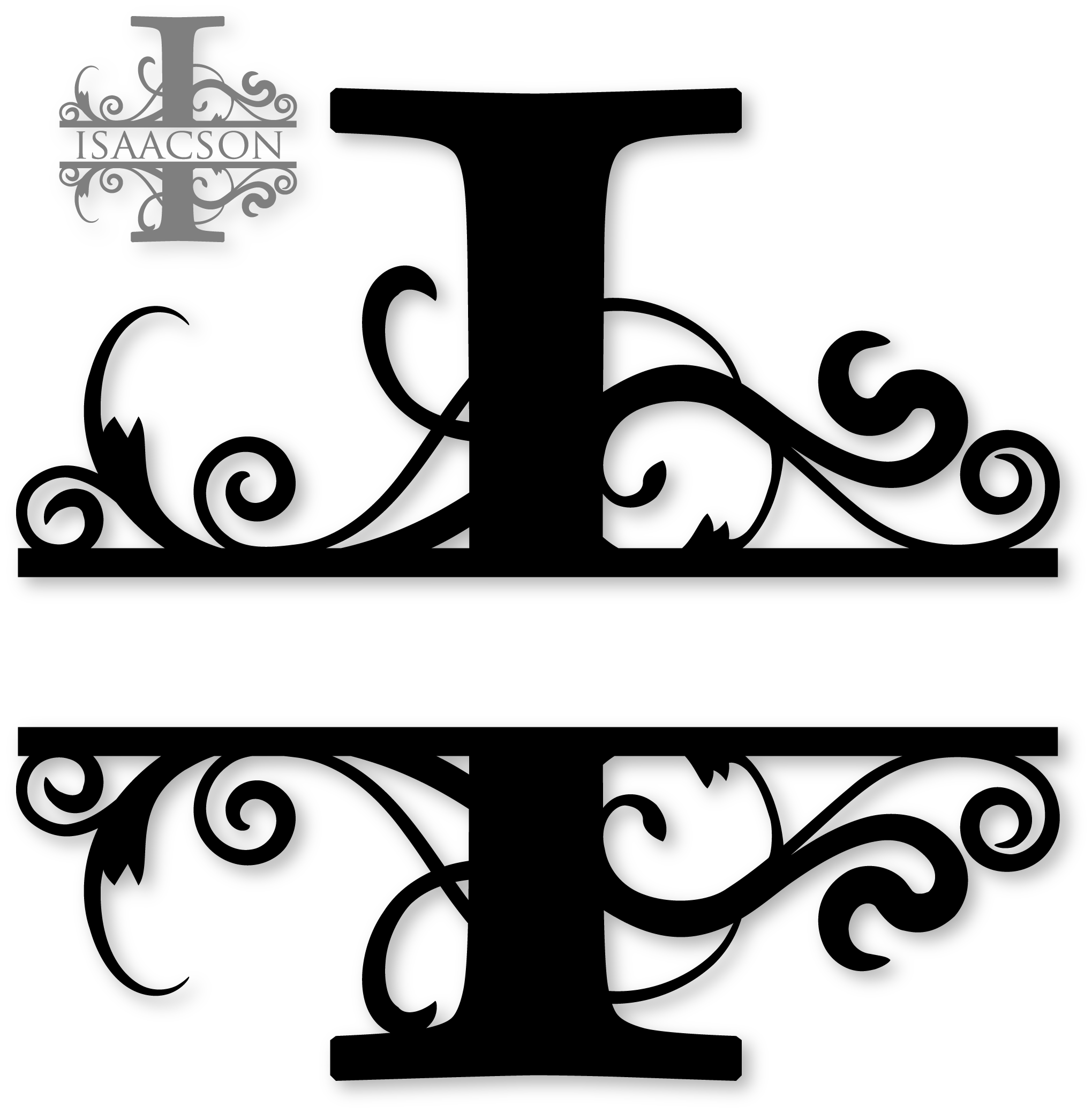 """I"" Split Monogram Free monogram fonts, Cricut monogram"